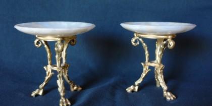 Alzatine in bronzo ed Alabastro